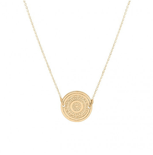 Chain necklace with maya medal