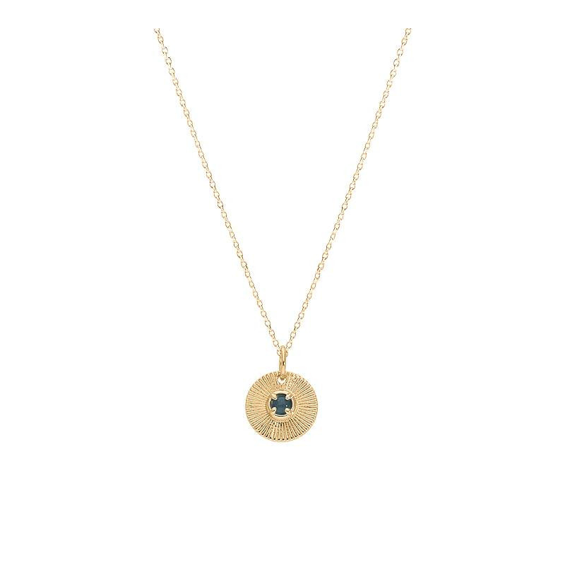 Gold-plated Hylas medal chain necklace