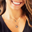 Gold-plated Calliope medal chain necklace