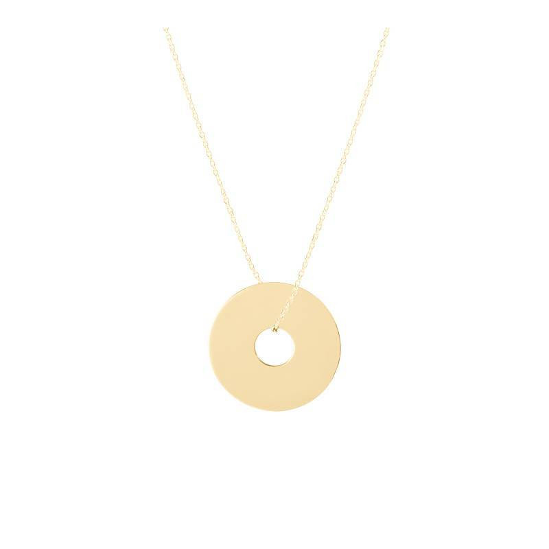 Large gold-plated target chain necklace