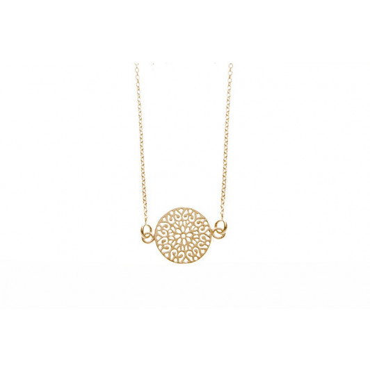 Chain necklace with arabesque