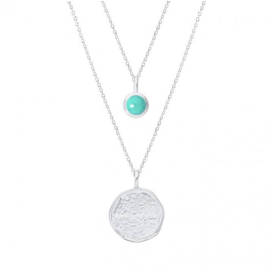 925 Silver amazonite Naïa chain necklace