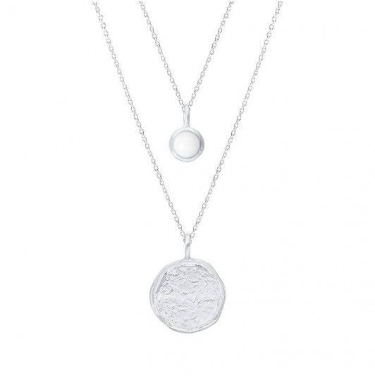 White turquoise Naïa chain necklace