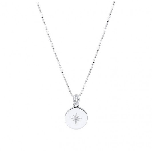 Zircon star faceted chain necklace