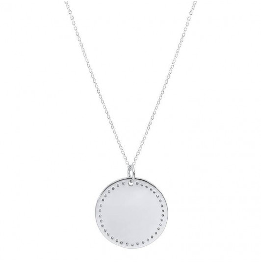Dotted medal chain necklace