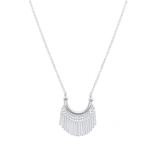 Interlaced rectangles chain necklace