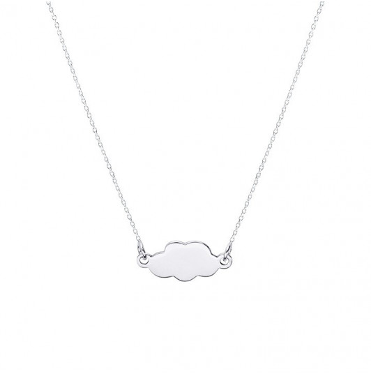 Chain necklace with small cloud for children