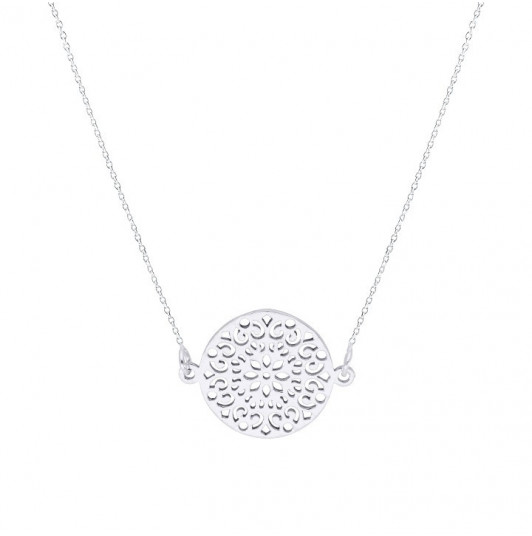 Chain necklace with large arabesque
