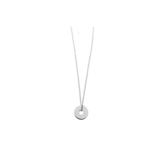 Thin chain necklace with mini target