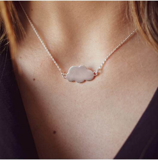 Large cloud chain necklace