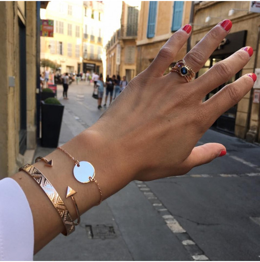 Small and large triangle open bangle