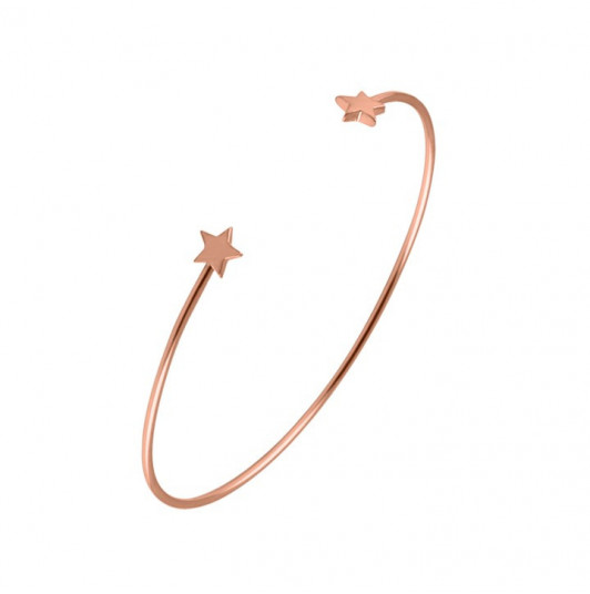Double star open bangle
