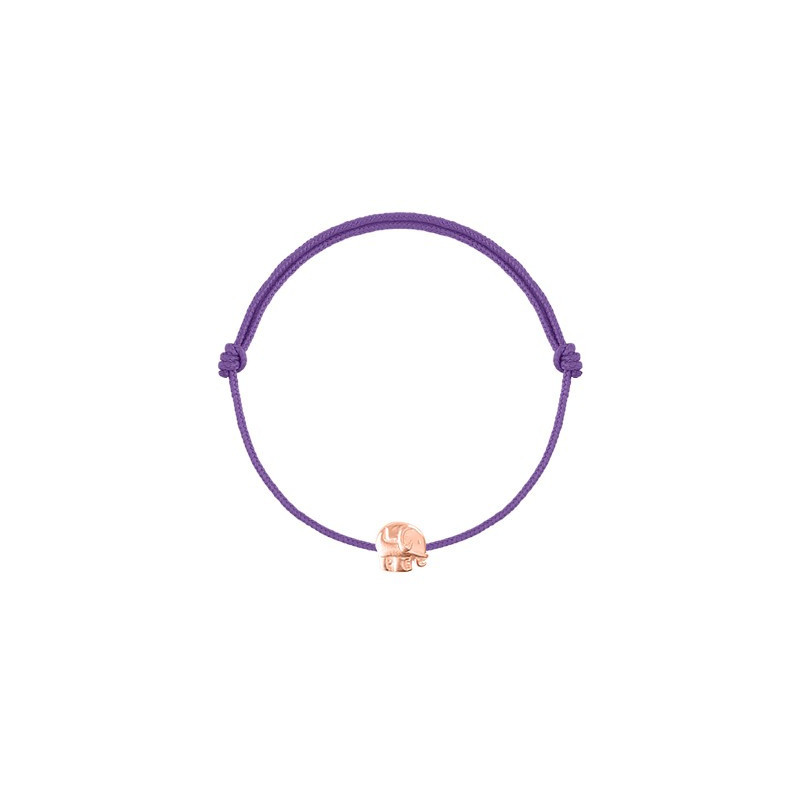 Tie bracelet with mini elephant for children