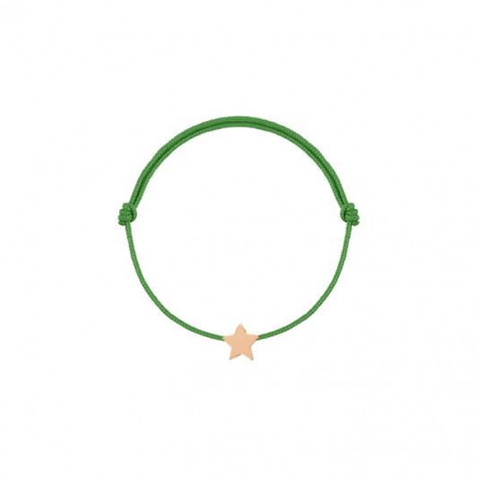 Tie bracelet with mini star for children