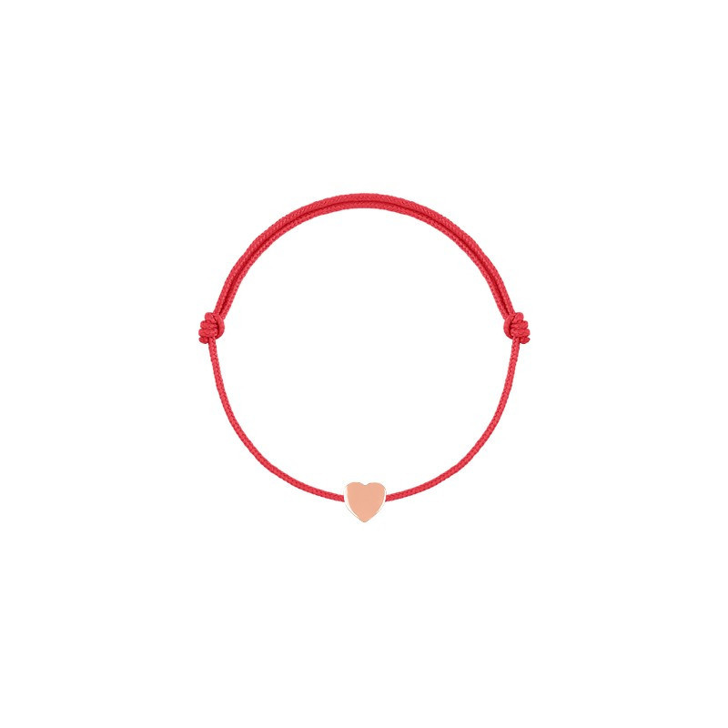 Tie bracelet with small heart for children
