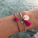 5 Small rose gold-plated stars chain bracelet