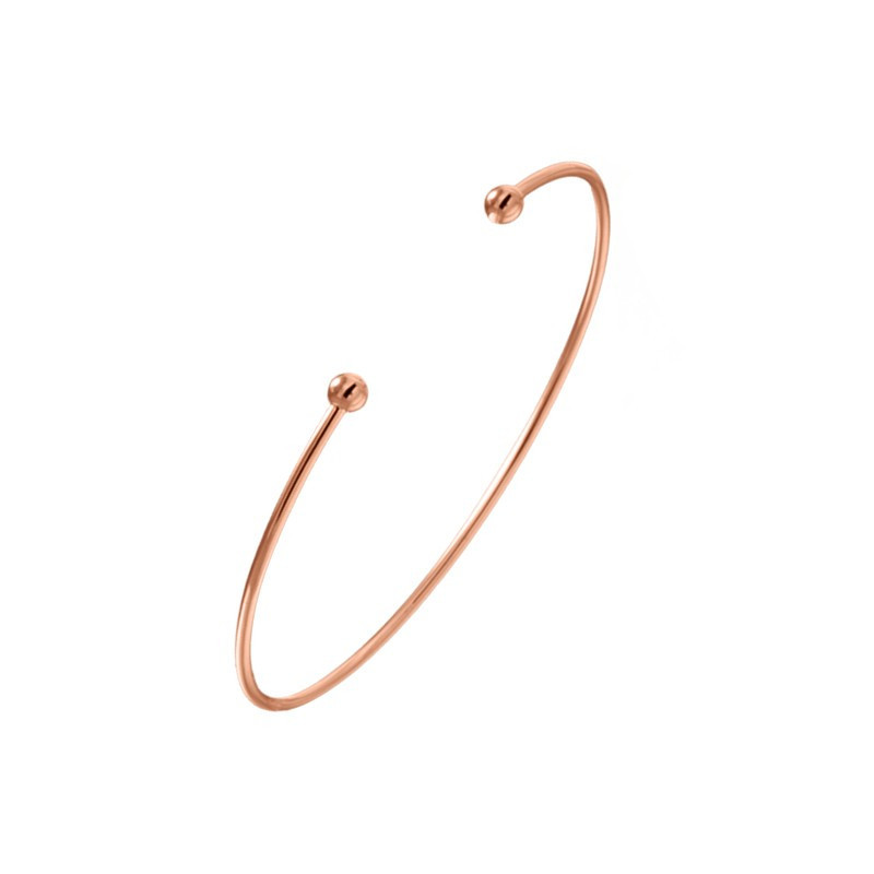 Rose gold-plated slave open bangle