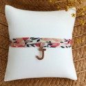 Liberty bracelet with a rose gold-plated charm for children