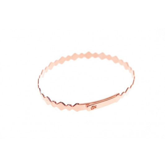 Zigzag lock bangle