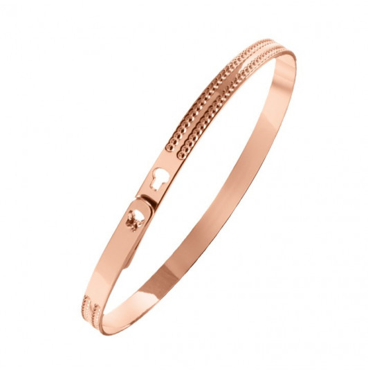 Double dotted line lock bangle