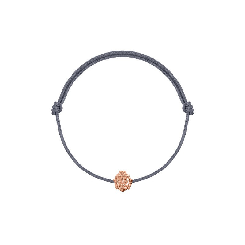 Rose gold-plated tie bracelet with mini buddha