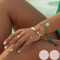 Rose gold-plated amazonite Calypso chain bracelet