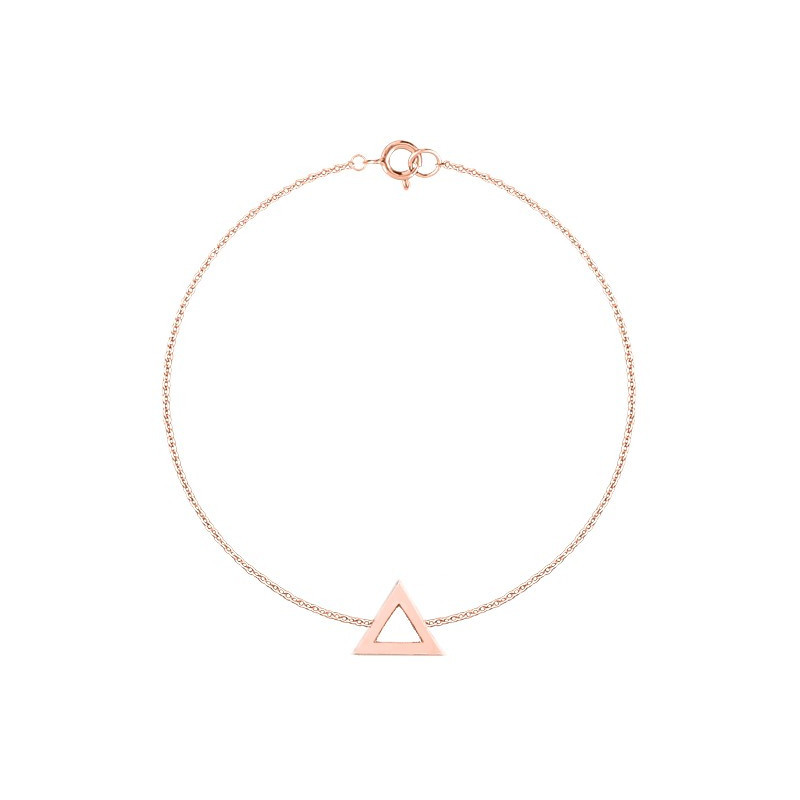 Chain bracelet with hollow triangle
