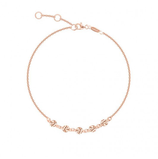 Small hammered medals chain bracelet