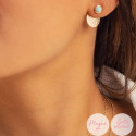 Rose gold-plated amazonite Aria earrings