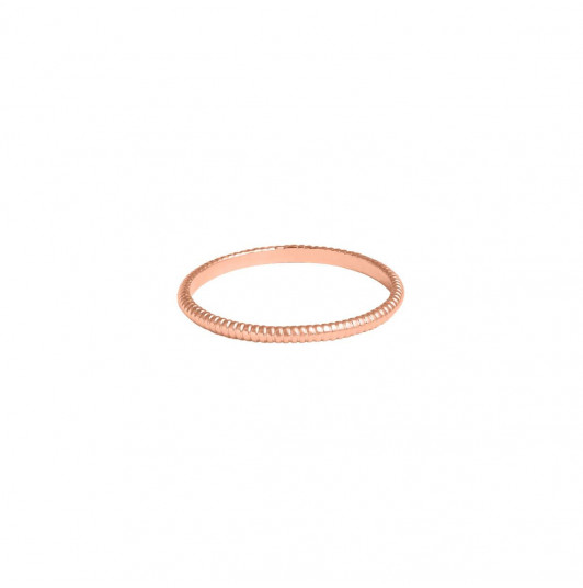 Striated band ring