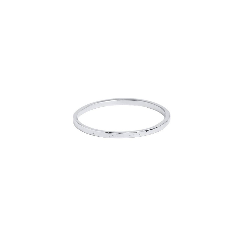 925 Silver hammered band ring