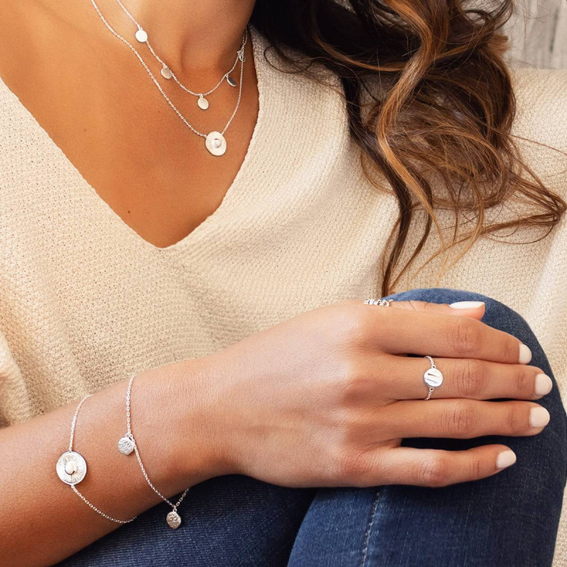 925 Silver medal chain ring