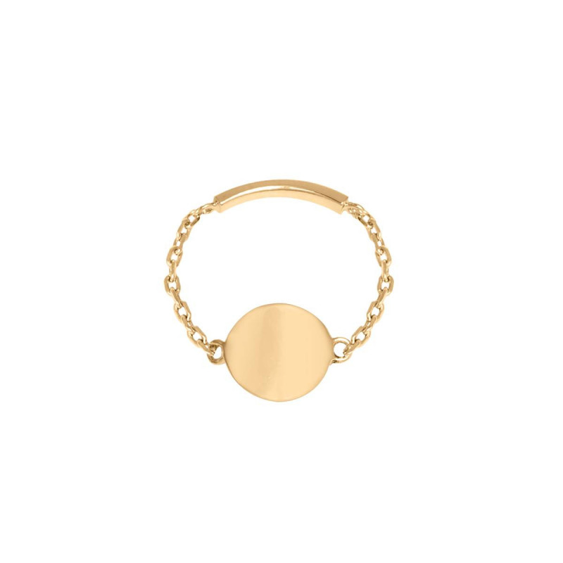 Gold-plated medal chain ring