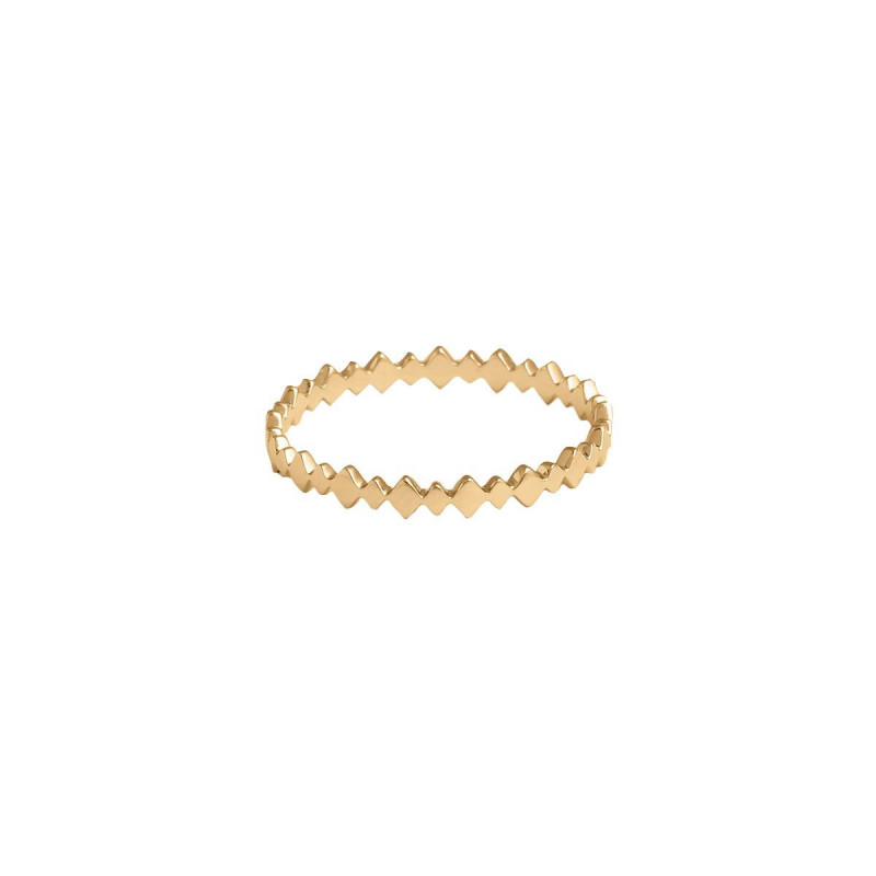 Gold-plated multi lozenge ring
