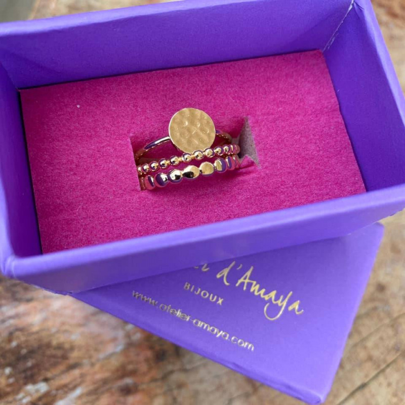 Gold-plated feston ring