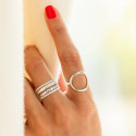 925 silver striated band ring