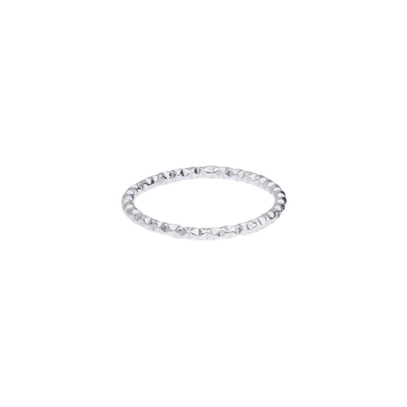 Thin 925 silver faceted ring