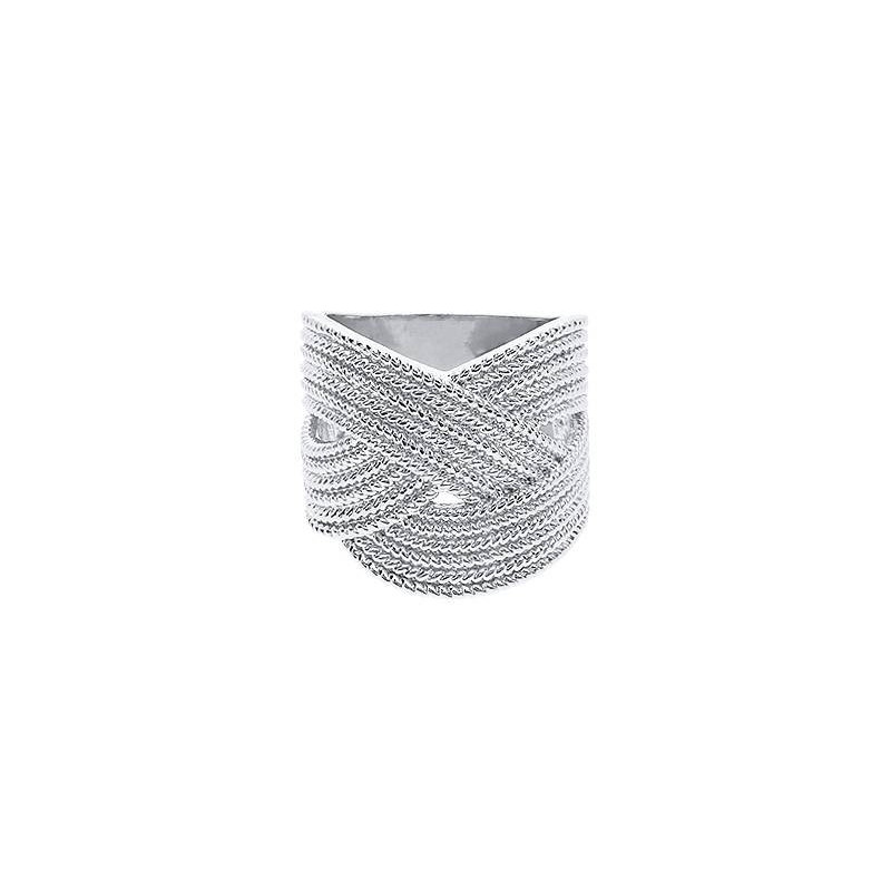 925 Silver braided ring