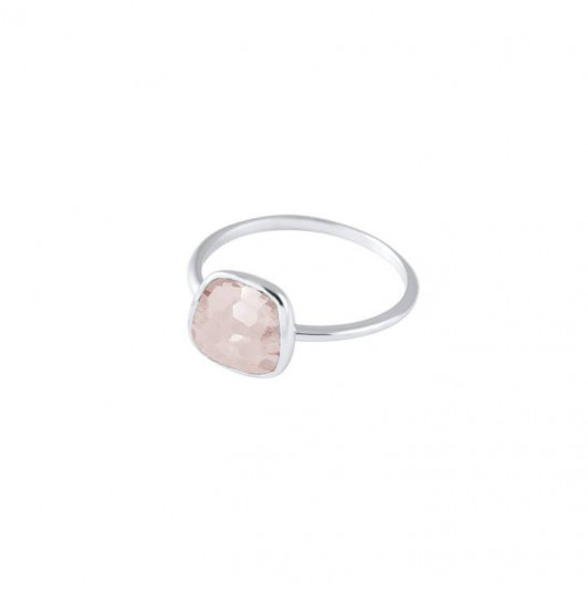 Bague pierre fine quartz rose médium