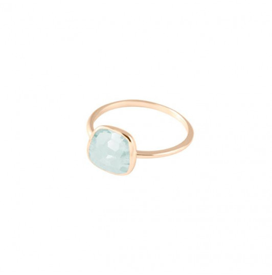 Medium gemstone calcedoine ring