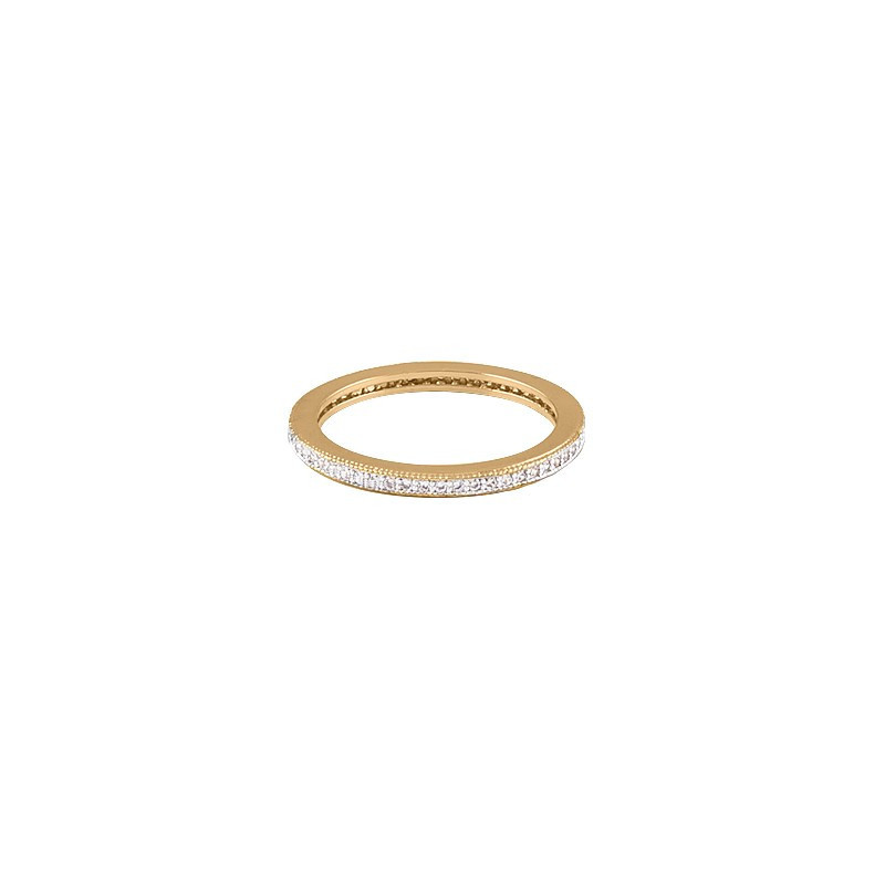 Band ring with zircons
