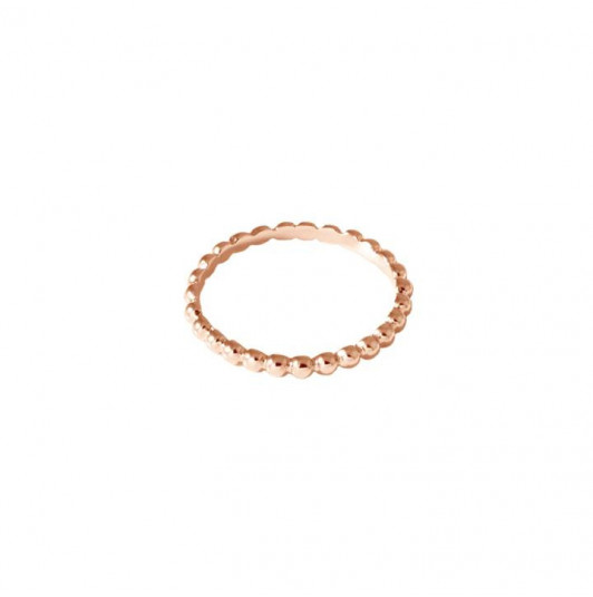 Thin ring with small beads
