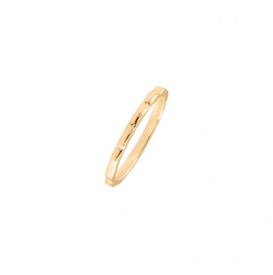 Gold-plated wavy ring