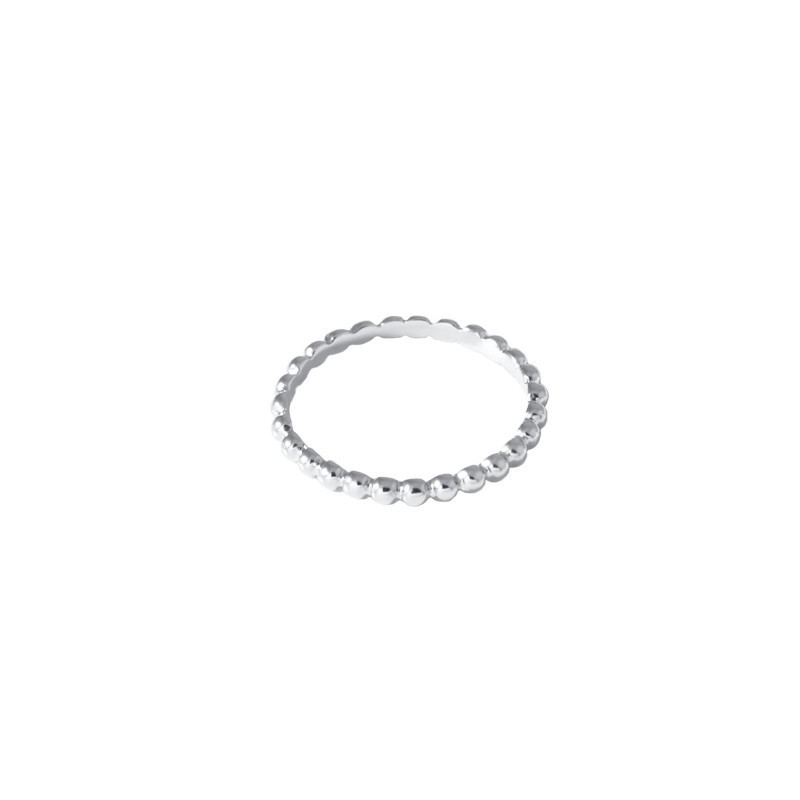 Thin 925 silver ring with small beads