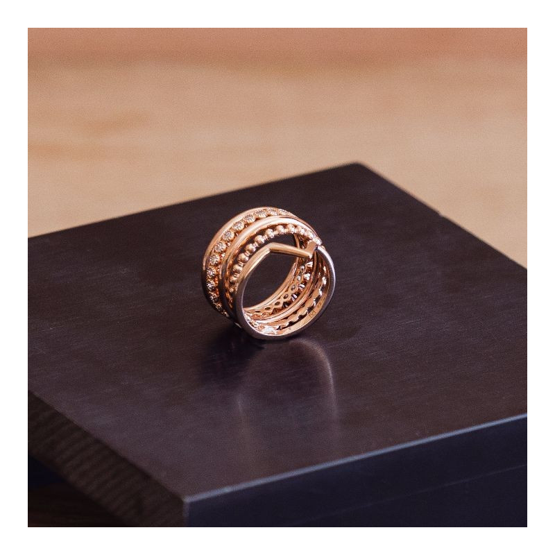 Gold-plated band ring