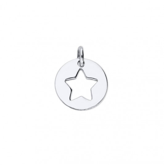 Perforated star medal