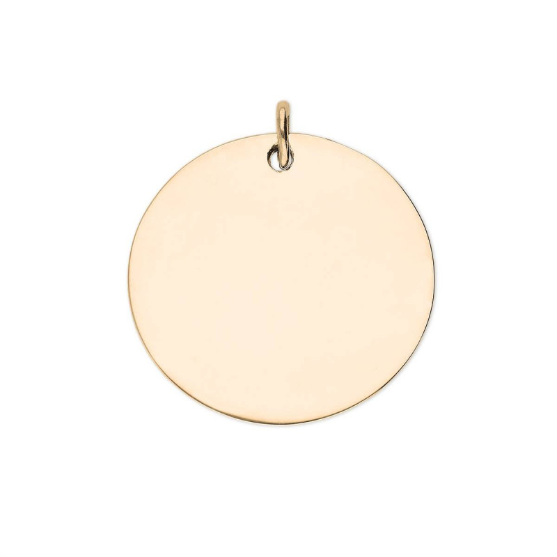 Gold-plated large flat medal