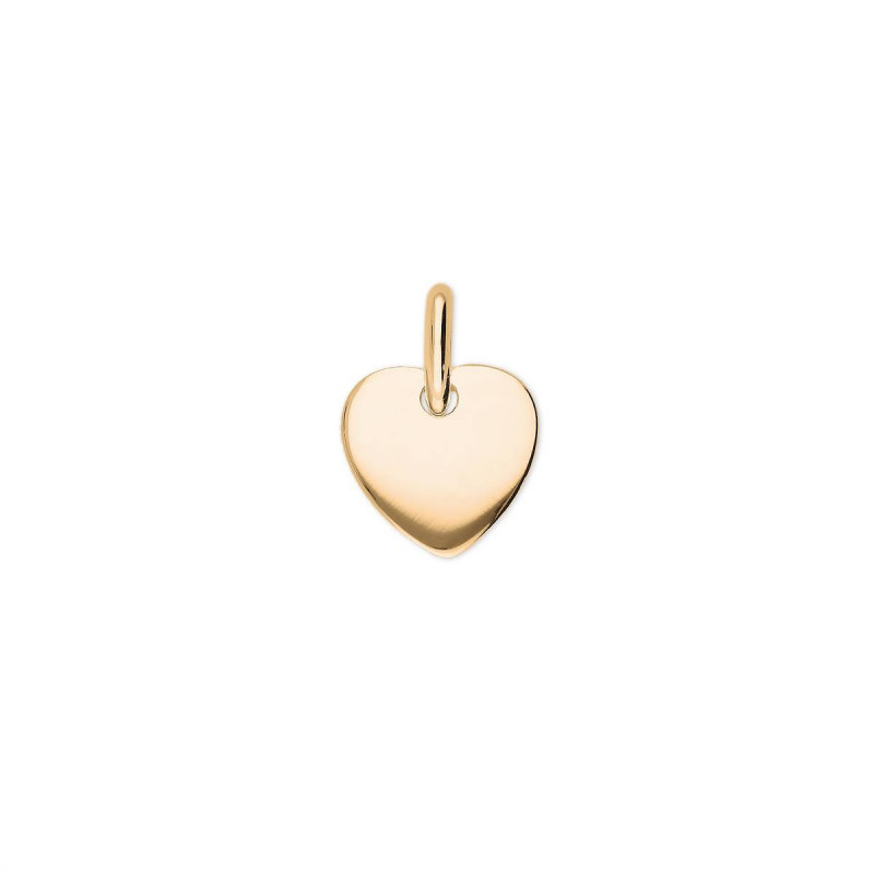 Little curved gold-plated heart medal