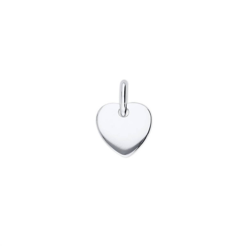 Little curved 925 silver heart medal