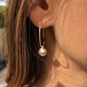 Gold-plated white turquoise Melia earrings